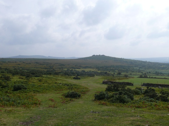 Looking back to Pew Tor