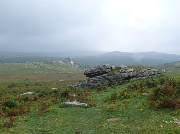 Looking from Feather Tor to Vixen Tor