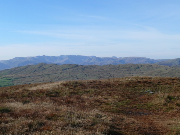 Leaving Sallows with that view, among others you can see Crinkle Crags, Bowfell, the Langdale Pikes, Scafell Pike and Great Gable