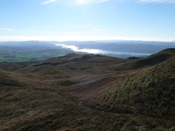 Into the sun, Windermere from Sour Howes