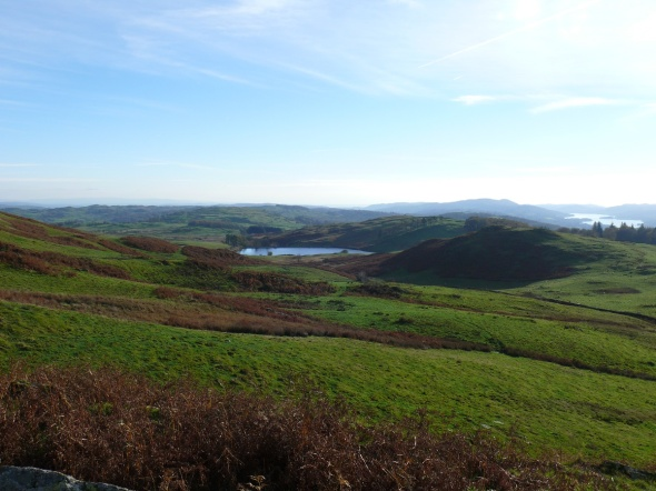 Dubbs Reservoir from the descent
