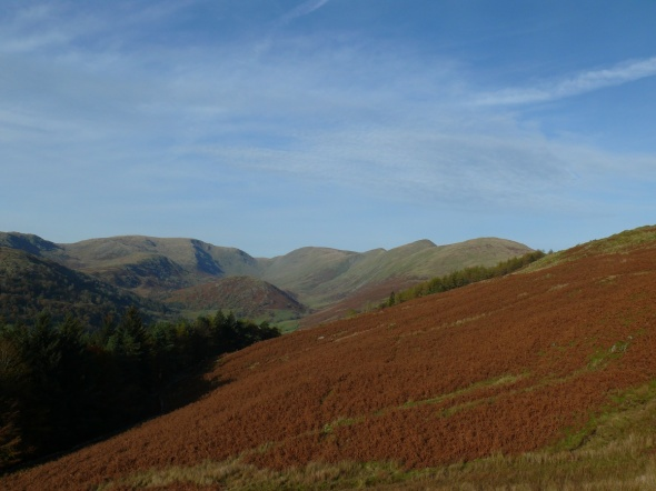 One last look, from the right, Yoke, Ill Bell, Froswick, Thornthwaite Crag and Caudale Moor with Troutbeck Tongue in the valley below