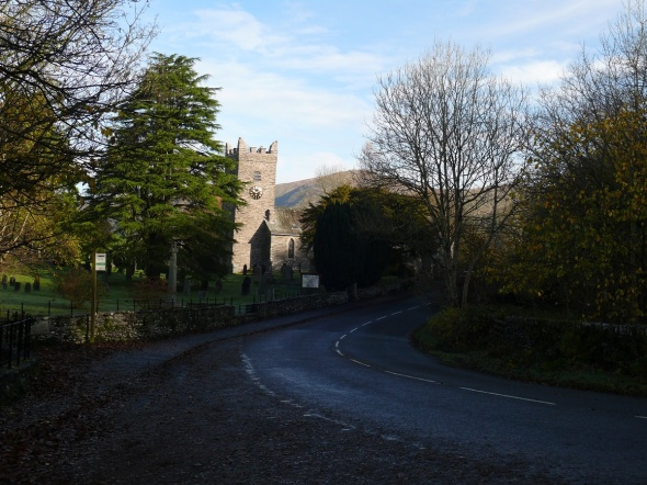 Troutbeck Church at the start of the walk