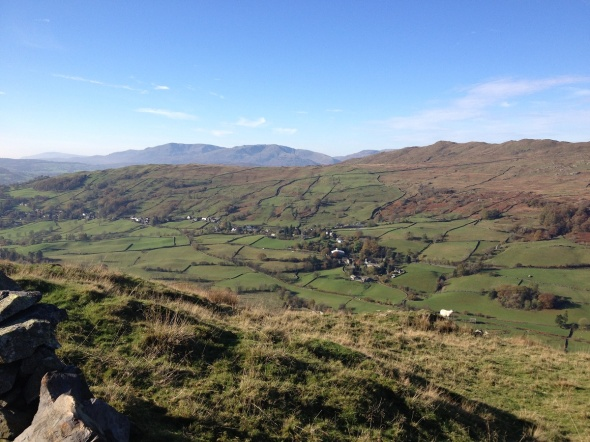 Looking across to Troutbeck village itself