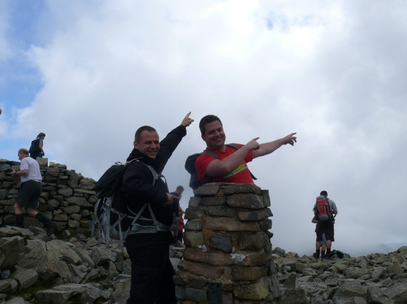 Usian Bolt, Olympics 2012, don't ask!! Scafell Pike summit