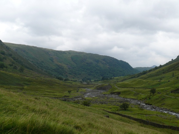 Looking back to Seathwaite Farm