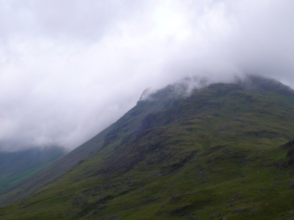 Cloud swirling around Great Gable
