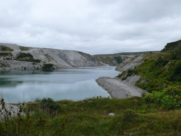 Opening out now and a look into one of Lee Moor's clay pits