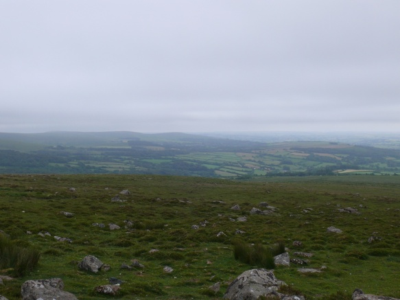 A view eastwards towards Western Beacon
