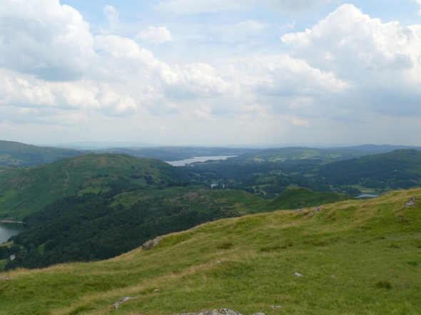 Windermere from the path to the summit of Silver How
