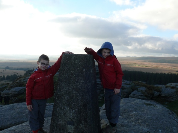 The summit of Bellever Tor
