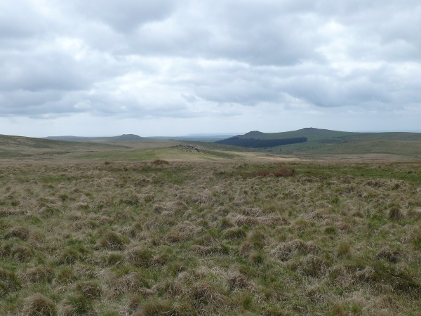 Looking back to Hart Tor