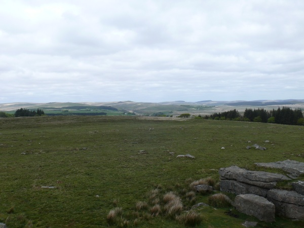 Looking north from South Hessary Tor