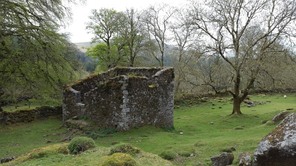 The remains of Middleworth Farm