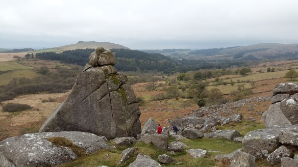 Cuckoo Rock with the boys giving some perspective