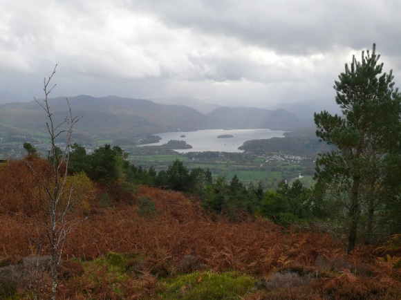 First view to Derwent Water although the cloud is building