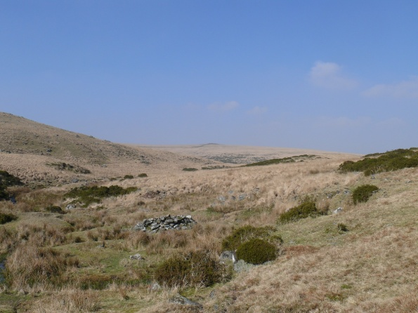 The pile of stones nearest is the Beehive with Sittaford Tor beyond