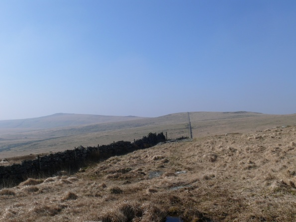 On Broad Down looking to Higher White Tor