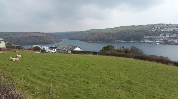 Fowey estuary from the start of the walk