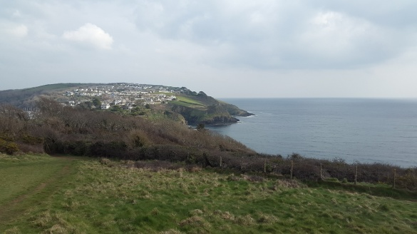Above the castle looking across to Polruan