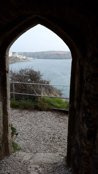 Fowey through the arch