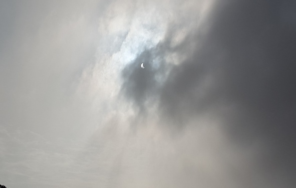 The part solar eclipse!!