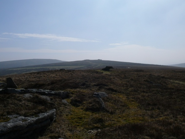 Shapley Tor looking back to Hookney Tor