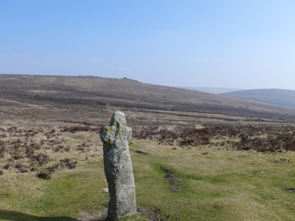 Bennet's Cross with Birch Tor behind
