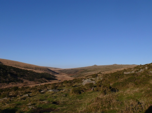 Longaford and Littaford Tors up on the right