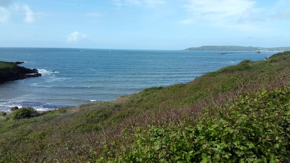 Bovisand beach and Rame head across the water