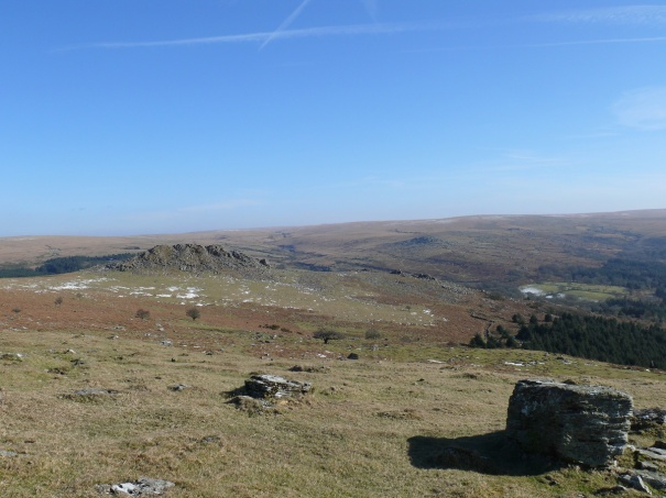 Now at Peek Hill looking back to Leather Tor