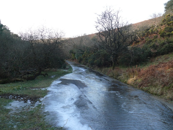 Very icy along here, nearly went over a couple of times!!