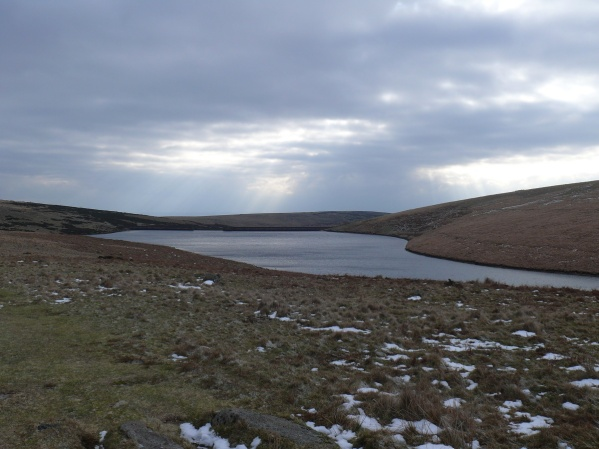 Looking back at the reservoir and the dam