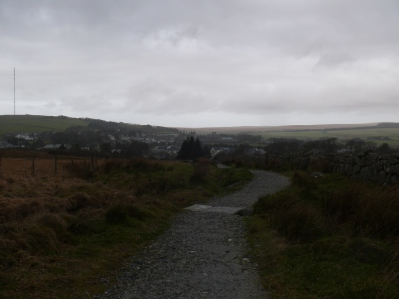 Looking back to Princetown
