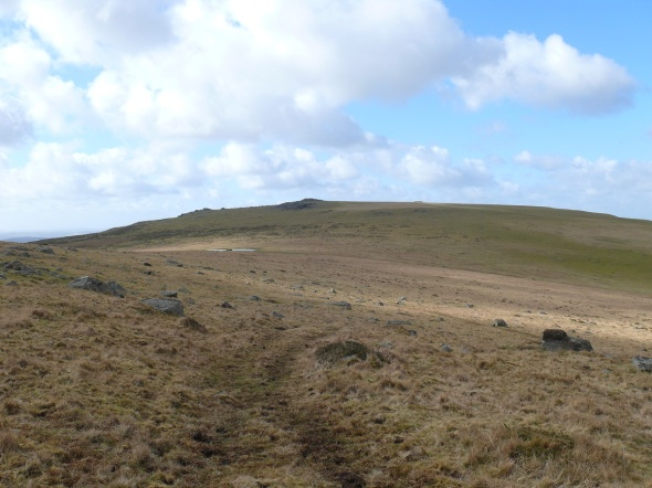 Looking back to Cox Tor