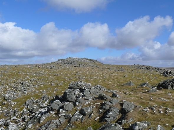 Approaching Cox Tor summit