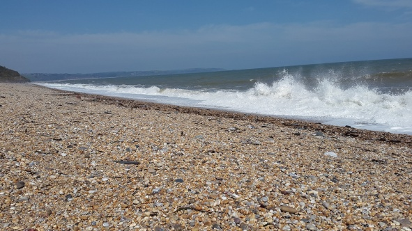 Crashing waves at Beesands