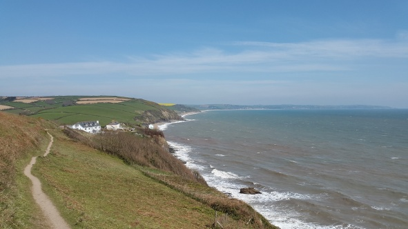 Looking back to Hallsands and across Start Bay