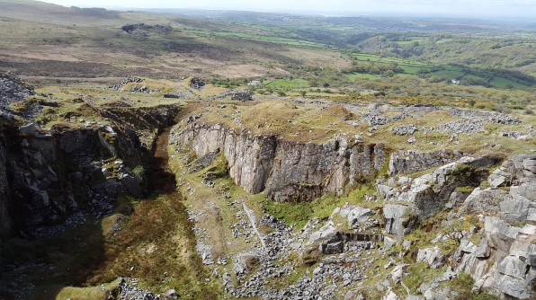 Swell Tor quarry, the granite from here went to make London Bridge