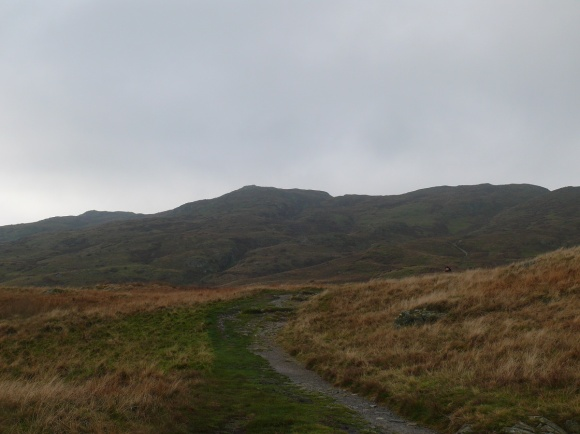 Typical, a cloud free Wansfell Pike