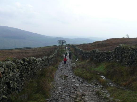 Heading back down Nanny Lane