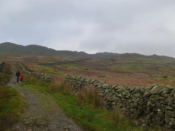 A look back up atthe Wansfell ridge
