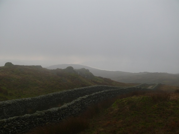 We crossed the stile at the end of Nanny Lane and headed up into the cloud