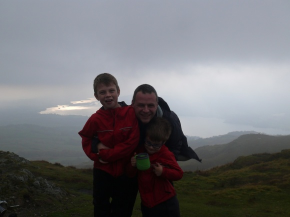 Me and the boys on Wansfell Pike