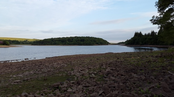 3/4s of the way round and looking back at the second dam left and the main dam right