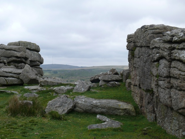 The two outcrops on Gutter Tor