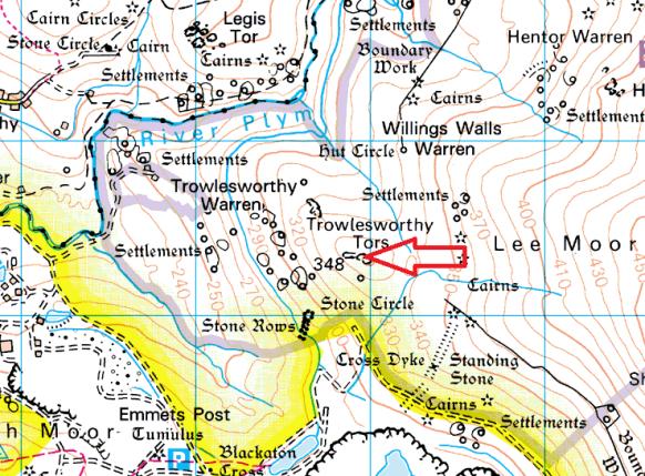 great-trowlesworthy-tor-map