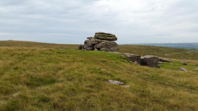 Hangershell Rock, Butterdon Hill to the left