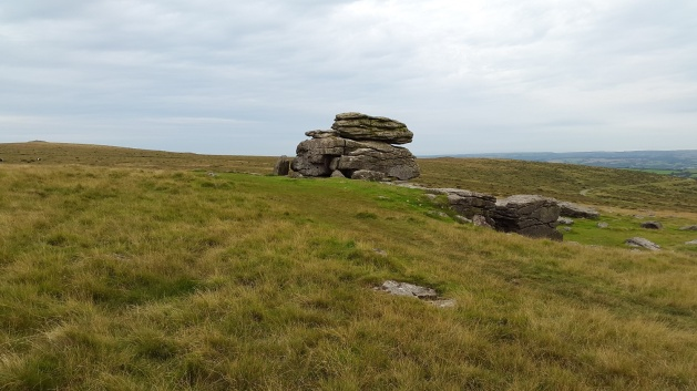 Hangershell Rock, Butterdon Hill to the left