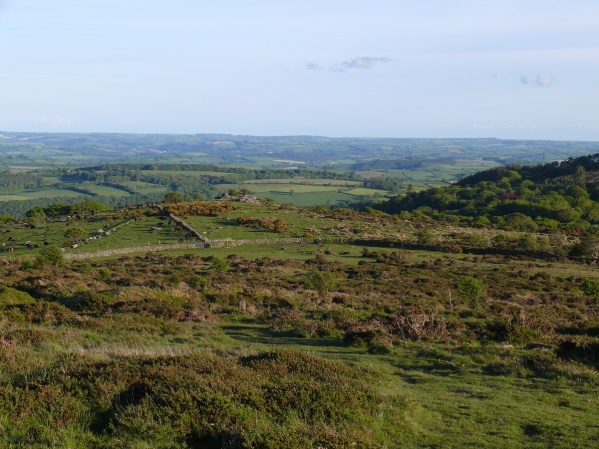 Looking down to Bag Tor